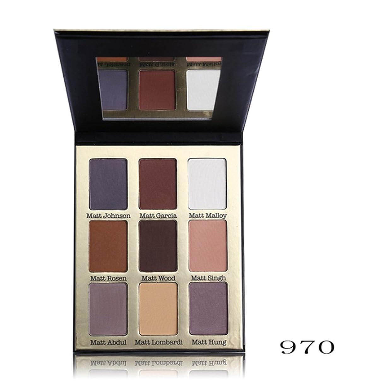 ラック収容する促すアイシャドーUCANBE 9色スムースマットアンダーグラウンドアイシャドウアイズ顔料粉末化粧品(970)