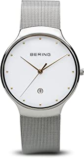 BERING Time 13338-001 Unisex Classic Collection Watch with Stainless-Steel Strap and scratch resistent sapphire crystal. Designed in Denmark