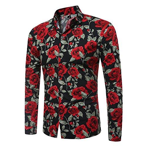 Gusspower Blusa Hombre Camiseta Camisa de Manga Larga Casual para Homb