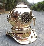 collectiblesBuy Antique Marine Mini Diving Helmet Replica Mark Us Navy Nautical Copper Finish (Copper)