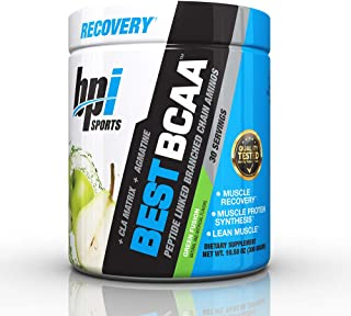 BPI Sports Best BCAA - BCAA Powder - Branched Chain Amino Acids - Muscle Recovery - Muscle Protein Synthesis - Lean Muscle - Improved Performance – Hydration – Green Fusion - 30 Servings - 10.58 oz.