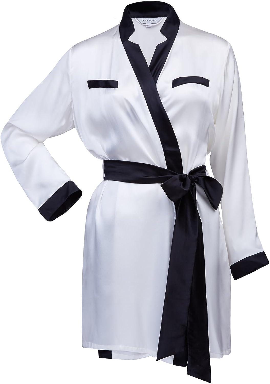 Dear Bowie Silk Brigitte Gown White