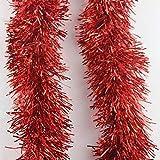 6 rojo x2m espumillón para árbol de Navidad 9 cm