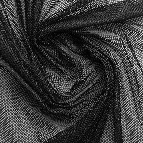 Forro de malla - Para revestir en interior de ropa - 100% poliéster - Por metro (Negro)