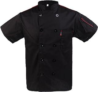 Sharplace Unisex Chef Apparel Chefs Jacket Short Sleeve Professional Kitchen Uniforms