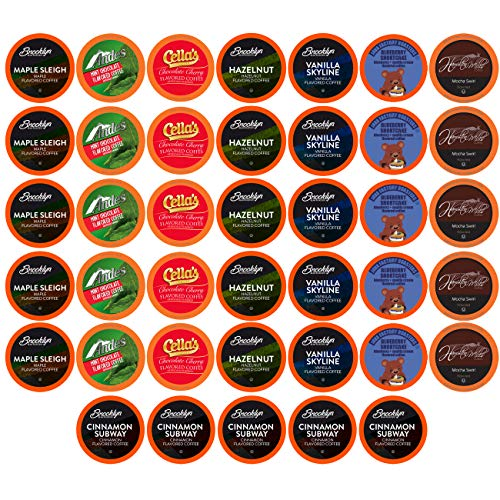 Best of The Best Flavored Coffee Pods, Variety Sampler Pack for Keurig K Cup Brewers, 40Count - Flavored Coffee Lovers, Great Gift - 5 Cups Of Each Flavor