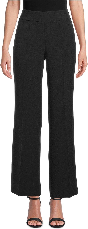 Kasper Womens Black Wide Leg Wear to Work Pants Size 12