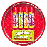 Lip Smacker Skittles 4-Piece Lip Balm Tin - Strawberry, Green Apple, Mango Tangelo, & Berry Punch