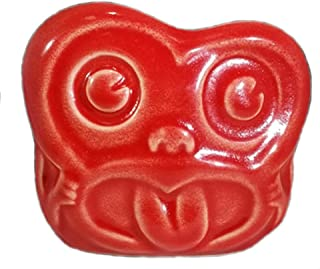 Minky Maori Monkey Head Tiki Mug - RED - Limited Edition Artist Mug