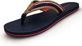 URBANFIND Men's Flip Flops Canvas Thong Sandals Flat Slide On TPR Non Slip Slippers