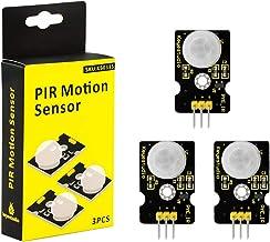 KEYESTUDIO 3PCS Micro PIR Motion Sensor for Arduino Raspberry Pi, Pyroelectric Infrared Motion Detector Module for IR Huma...