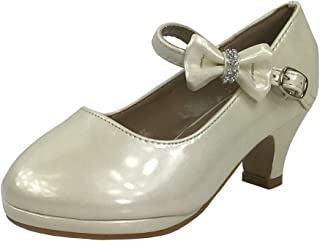 7305cafb798 Link Little Girl s Bow Mary Jane Pumps Dress Shoes