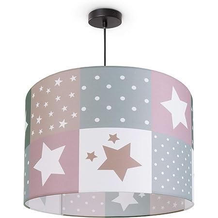 die Senffarbe youngDECO Lampe f/ür Baby- und Kinderzimmer skandinavische Kinderzimmer-Deko f/ür M/ädchen /& Junge komplette Deckenlampe f/ür Kinderzimmer gro/ßer Lampenschirm 38x24cm