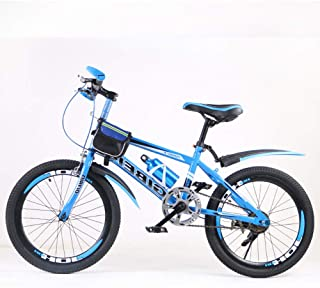 Kids' BikesKids' Bikes, 20 Inch Mountain Bike Disc Brake Single Speed Child Bicycle,Blue