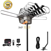 HDTV Antenna Amplified Digital Outdoor TV Antenna 150 Miles Range with Mounting Pole-4K..