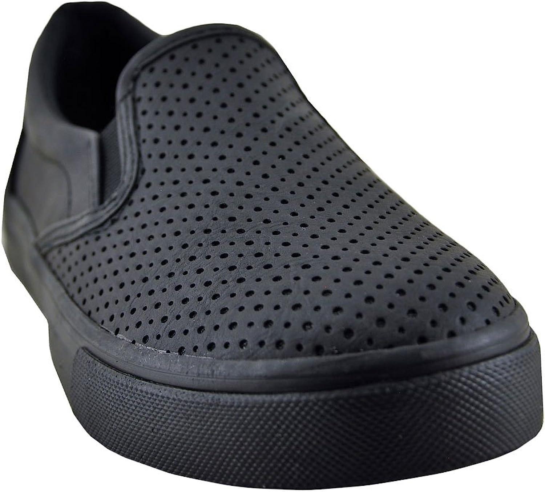 Soda Tracer-MG Women's Faux Vegan Leather Slip On Sneaker