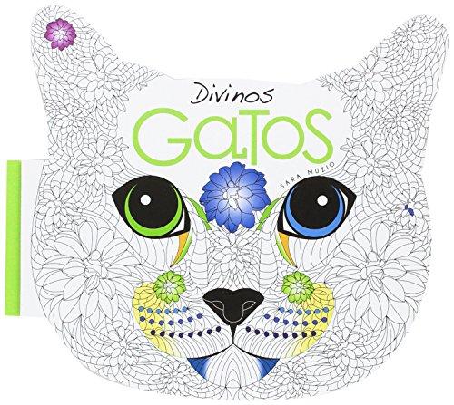 Divinos Gatos. Libro Antiestres para colorear
