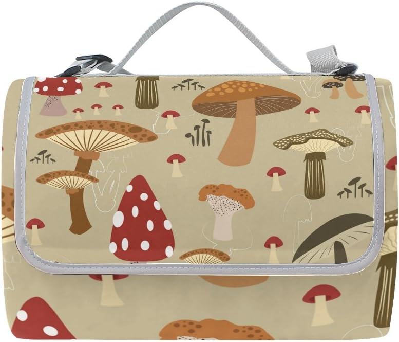 Florence Colorful Mushroom Pattern Outdo Cheap bargain Blanket Memphis Mall Picnic Foldable