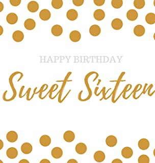 Happy 16th Birthday Guest book Sweet Sixteen: Guest book, party and birthday celebrations decor, memory book,16th birthday...