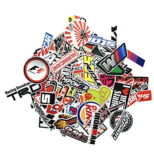 100PCS Modified Cars Stickers JDM Cool Sticker Car Skateboard Motorcycle Bicycle Laptop Computer Bedroom Wardrobe Mobile Phone Luggage Guitar DIY Decal (JDM)
