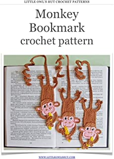 Monkey bookmark Crochet Pattern Amigurumi toy (LittleOwlsHut) (Crochet bookmark)