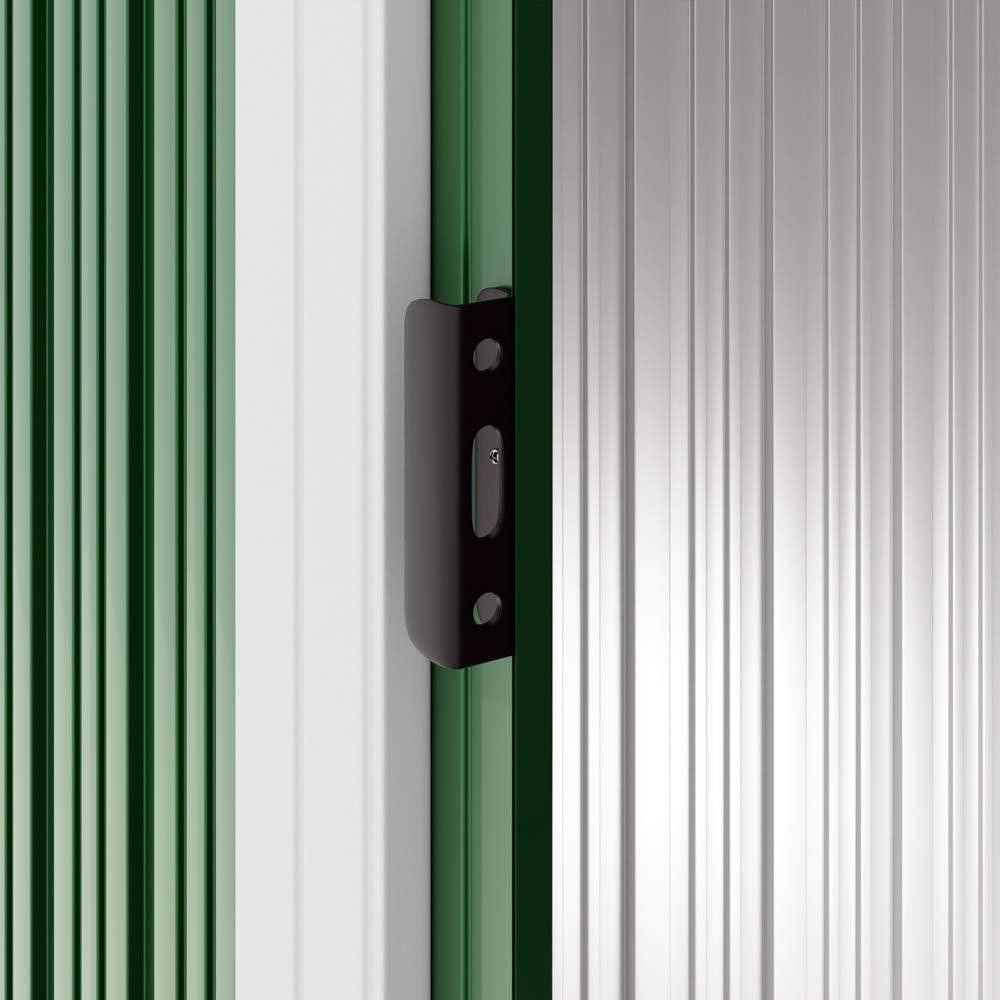 Deuba Cobertizo de Metal Verde 2m/² con Base caseta de jard/ín Almacenamiento Exterior de jard/ín 196x122x182cm con Puerta