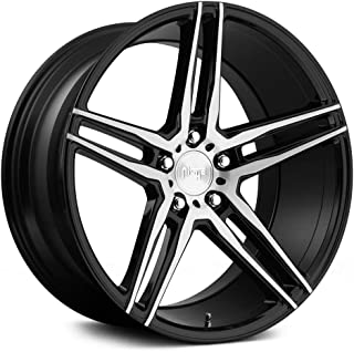 19x8.5 NICHE Turin M169 Black Machined Wheels 5x112 Bolt Pattern with +34 Offset