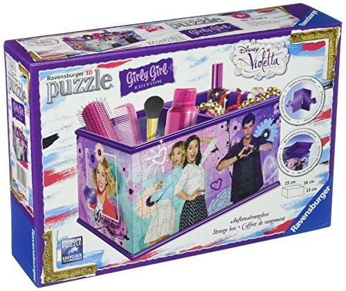 Ravensburger 12091 - 3D-Puzzle Girly Girl Edition Aufbewahrungsbox, violett