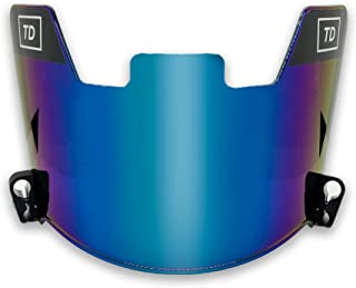 TD Sports Football Visor | Fits Kids, Youth, and Adult Helmets | Eye Protection for Helmet and Facemask