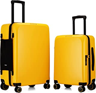 VERAGE Suitcases Sets with X-Large Spinner Wheels, Expandable Hardshell 2 Piece Luggage Sets for Travel, TSA Approved(20/2...