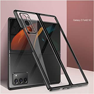 Case for Samsung Galaxy Z Fold 2 5G 2020 Ultra Thin Hard Plastic Plating Crystal Clear Cover Finish Anti-Scratch Shookproo...