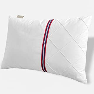 TEFOTO British Style Bed Pillow for Sleeping Polyester Filled Pillow with Cotton Pillowcase Queen Size