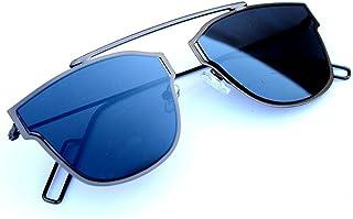 2f22a3643 Elegante UV Protected Blue Mirrored Premium Rectangular Unisex Sunglasses
