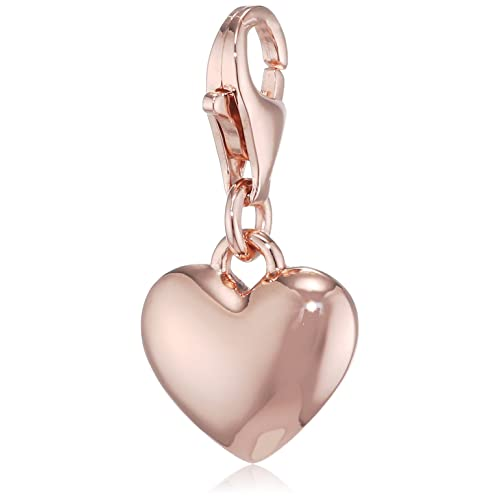 edef772868c Thomas Sabo Women-Charm Pendant Heart Charm Club 925 Sterling silver 18k  rose gold plating