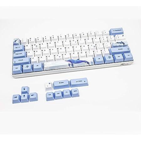Juego de PBT Keycaps OEM para 60% Teclado Mecánico MX de Diseño ANSI Teclas para GH60 RK61 / ALT61 / Annie/Poker GK61 GK64 (Ballena)