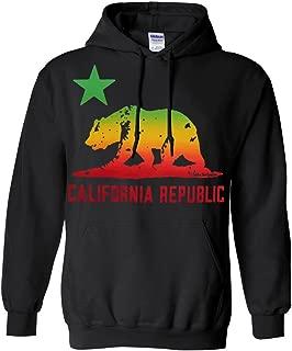 California Republic Rasta Bear Flag Asst Colors Sweatshirt Hoodie