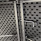 Nexos GM34524 Partytisch Klapptisch Gartentisch Rattan-Optik 180 x 75 cm stabil Esstisch Buffettisch Tragegriff bis 170 kg Metallgestell weiß braun Farbe wählbar (Schwarz) - 6
