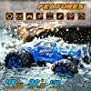 Soyee RC Cars 1:10 Scale RTR 46km/h High Speed Remote Control Car All Terrain Hobby Grade 4WD Off-Road Waterproof Monster Truck Electric Toys for Kids and Adults -1600mAh Batteries x2 #1