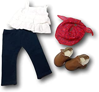 """American Girl Truly Me Western Chic Outfit for 18"""" Dolls (Doll Not Included)"""