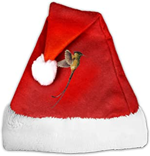 Hummingbird Velvet Santa Hat with Plush Trim, Two Size Fits Most for Adult's and Child