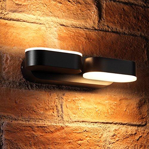 Auraglow 13w interno/esterno integrato LED gemellato up e giù Luce girevole girevole girevole