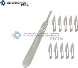 OdontoMed2011 Scalpel Handle #4 +10 Sterile Surgical Blade # 24 Dental Instruments ODM
