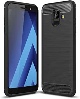 NALIA Case Compatible with Samsung Galaxy A6, Silicone Ultra-Thin Protective Phone Cover Rugged Rubber-Case Gel Soft Skin Shockproof Slim Back Bumper Protector Back-Case Smartphone Shell - Black