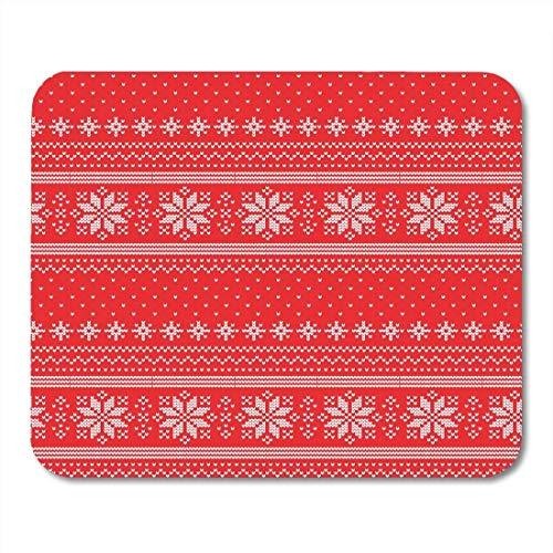 Yanteng Almohadillas para Mouse Árboles Punto Rojo Navidad Punto Patrón Abstracto Blanco Lindo tapetes para ratón Alfombrilla