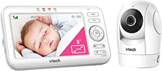 VTech BM5500 Video and Audio Baby Monitor with Motorised Pan & Tilt Camera, White,