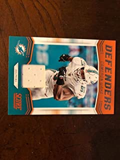 2019 Score Defenders Jersey Swatch D-4 Cameron Wake Miami Dolphins Official NFL Panini Football Memorabilia Trading Card