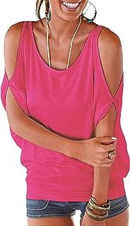 Best hot pink cold shoulder top Reviews