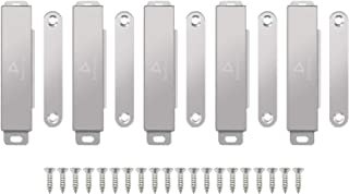 DonYoung Magnetic Latch, 60lb Magnet Cabinet Door Catch 5 Pack, Stainless Steel Screws for Solid Surface, Keep Kitchen Bat...