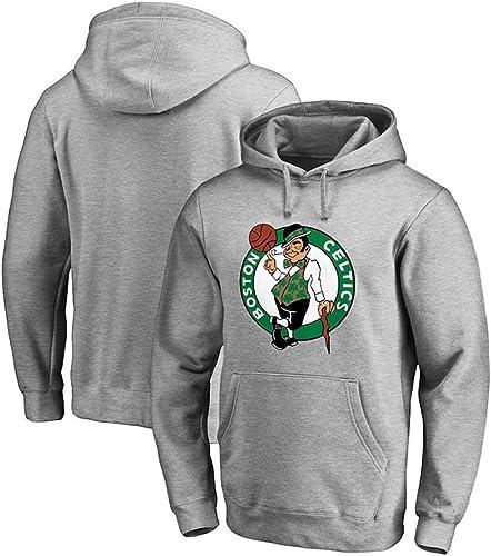 HuWai-Sports Sweat à Capuche NBA Boston Celtics Ventilateurs de Basket Chaud et Confortable hauts S-3xl Noir Blanc