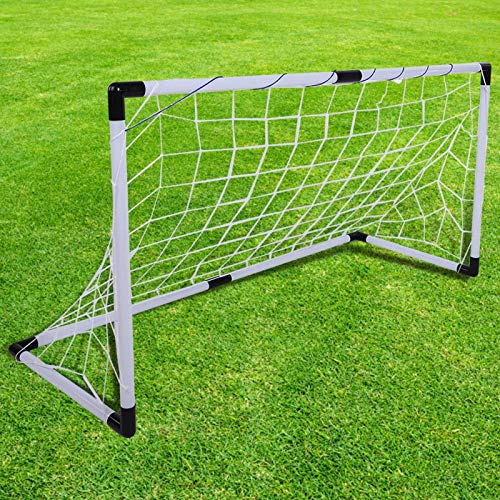 DAUERHAFT Portería de fútbol Plegable Ligera no tóxica Portería de fútbol de...